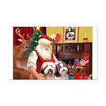 Santa's Beardie pair Rectangle Car Magnet