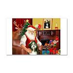 Santa's Bearded Collie Car Magnet 20 x 12