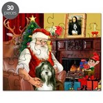Santa's Bearded Collie Puzzle