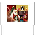 Santa's Bearded Collie Yard Sign