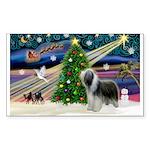 Xmas Magic & Beardie Sticker (Rectangle 50 pk)