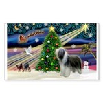 Xmas Magic & Beardie Sticker (Rectangle 10 pk)