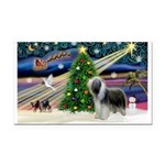 Xmas Magic & Beardie Rectangle Car Magnet