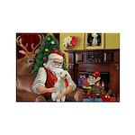 Santa's Bedlington Rectangle Magnet