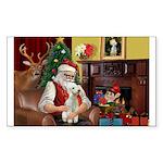 Santa's Bedlington Sticker (Rectangle)