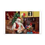 Santa's Bedlington Rectangle Car Magnet