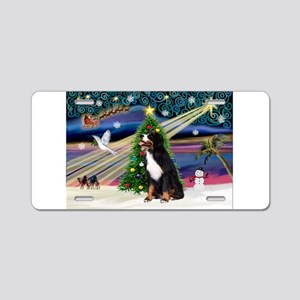 Xmas Magic & Bernese Aluminum License Plate