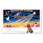 XmasSunrise/Bloodhound Sticker (Rectangle 10 pk)