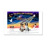 XmasSunrise/2 Border Collies Car Magnet 20 x 12