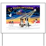XmasSunrise/2 Border Collies Yard Sign