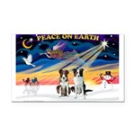XmasSunrise/2 Border Collies Rectangle Car Magnet