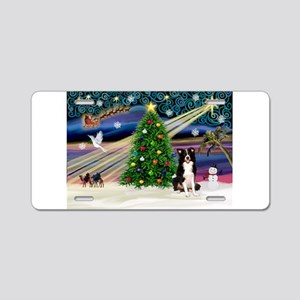 XmasMagic/ Border Collie Aluminum License Plate
