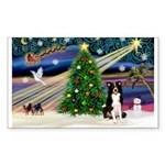 XmasMagic/ Border Collie Sticker (Rectangle 50 pk)