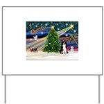 XmasMagic/ Border Collie Yard Sign