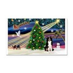 XmasMagic/ Border Collie Rectangle Car Magnet