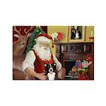 Santa's Border Collie Rectangle Magnet