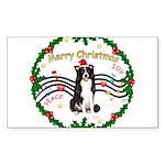 XmasMusic1MC/Border Collie Sticker (Rectangle 10 p