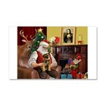 Santa's Border Terrier Car Magnet 20 x 12
