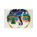 XmasMusic 3/Boston Terrier Rectangle Magnet (10 pa