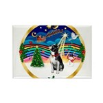 XmasMusic 3/Boston Terrier Rectangle Magnet
