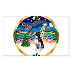XmasMusic 3/Boston Terrier Sticker (Rectangle 50 p