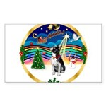 XmasMusic 3/Boston Terrier Sticker (Rectangle 10 p