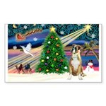 Xmas Magic & Boxer Sticker (Rectangle)