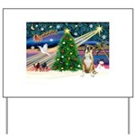 Xmas Magic & Boxer Yard Sign