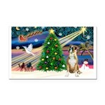 Xmas Magic & Boxer Rectangle Car Magnet