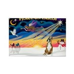 XmasSunrise/Boxer #! Rectangle Magnet (10 pack)