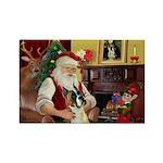 Santa's Boxer (#1) Rectangle Magnet