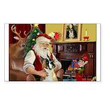 Santa's Boxer (#1) Sticker (Rectangle 50 pk)