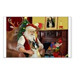 Santa's Boxer (#1) Sticker (Rectangle 10 pk)