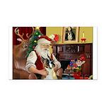 Santa's Boxer (#1) Rectangle Car Magnet
