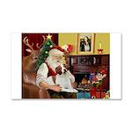 Santa & His Brittany Car Magnet 20 x 12