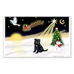 Night Flight/ Brussels Sticker (Rectangle 50 pk)