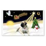 Night Flight/Mastiff 4 Sticker (Rectangle 50 pk)