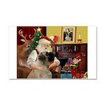 Santa's Bullmastiff #7 Car Magnet 20 x 12
