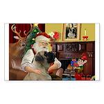 Santa's Bullmastiff #7 Sticker (Rectangle)
