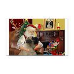 Santa's Bullmastiff #7 Rectangle Car Magnet