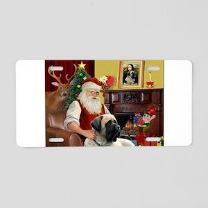 Santa's Bull Mastiff Aluminum License Plate