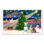 XmasMagic/2 Bullies Sticker (Rectangle 10 pk)