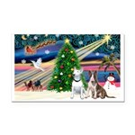 XmasMagic/2 Bullies Rectangle Car Magnet