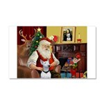 Santa's Bull Terrier Car Magnet 20 x 12
