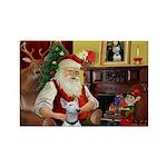 Santa's Bull Terrier Rectangle Magnet