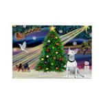 XmasMagic/ Bull Terrier Rectangle Magnet (10 pack)