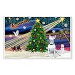 XmasMagic/ Bull Terrier Sticker (Rectangle 50 pk)