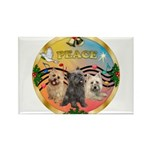 XmasMusic 3/3 Cairns Rectangle Magnet (10 pack)