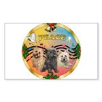 XmasMusic 3/3 Cairns Sticker (Rectangle 10 pk)