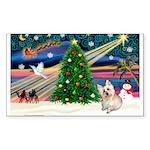 XmasMagic/ Cairn T Sticker (Rectangle 50 pk)